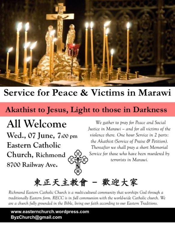 Peace & Victims in Marawi poster